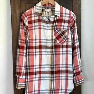 Flannel Button-Up Shirt/Tunic